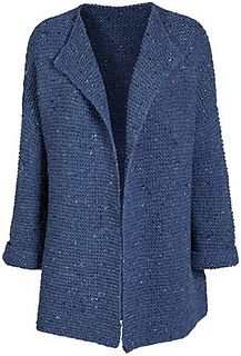 Ravelry: Denim Blue pattern by Susie Haumann pattern Denim Blue pattern by Susie Haumann Easy Knitting, Loom Knitting, Knitting Stitches, Knitting Designs, Knitting Patterns Free, Knit Cardigan Pattern, Crochet Cardigan, Gilet Crochet, Knit Crochet