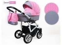 Kinderwagen Queen 3 In 1 Set Wanne Buggy Babyschale Autositz Mit Zubehor Pink Coisas Para Comprar