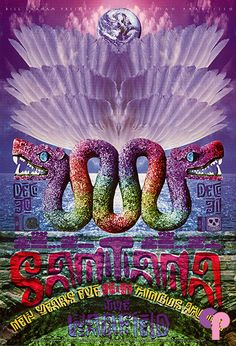 Classic Poster - Santana at Warfield Theater 12/31/96 by Su Suttle