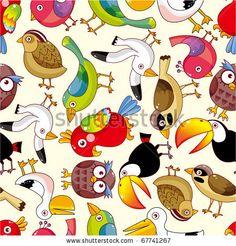 stock vector : seamless bird pattern
