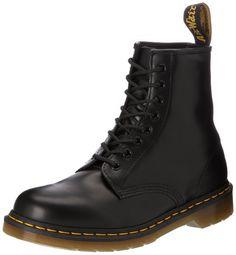Dr. Martens 1460 Smooth 59 Last WHITE, Unisex-Erwachsene Bootsschuhe, Schwarz (Black), 41 EU (7 UK)