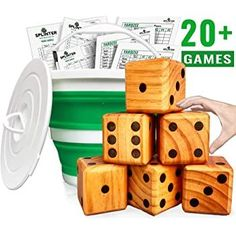 Yard Dice Games#dice #games #yard Giant Outdoor Games, Outdoor Yard Games, Diy Yard Games, Outdoor Toys For Kids, Lawn Games, Backyard Games, Indoor Outdoor, Dice Games, Bbq Party Games