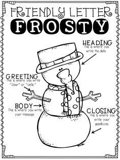 Friendly Letter Frosty...letter helper for kids!