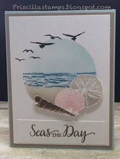Image result for craft cards with shells pics