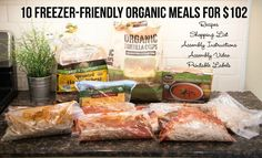 BRAND NEW MEAL PLAN! 10 Freezer-Friendly Organic Meals for $102 from $5 Dinners - check it out!!!