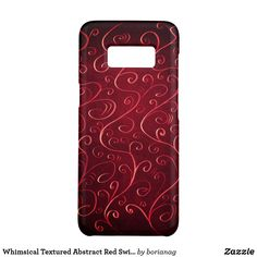 Whimsical Textured Abstract #Red #Swirl Pattern Case-Mate Samsung Galaxy S8 Case #galaxys8