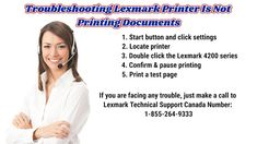 This blog teach you the way of troubleshoot of Lexmark printer is not printing documents. If you are facing any issues related to this blog, just make a call to Lexmark Printer Technical Support Canada: 1-855-264-9333. Printer, Canada, Teaching, Face, How To Make, Blog, Education, Faces, Learning