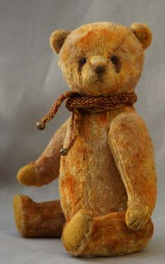 Yellow teddy bear by Hypatia