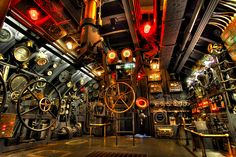 Submarine interior (via Flickr). Kicking around a story idea