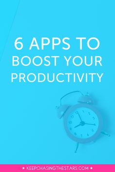 Multitasking is a huge productivity killer! Check out these 6 apps that will help you boost your productivity.