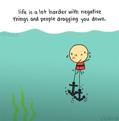 It can be hard getting rid of negativity, but it can feel like a weight being lifted off your chest.