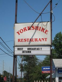 Yorkshire Restaurant in Manassas, VA - a great hole-in-the-wall place for breakfast.