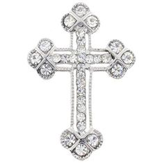 Silver Cross Pin Brooch And Pendant(Chain Not Included) Fantasyard. $13.99. Other color available. Exquisitely detailed designer style. Gift box available for an additional fee. Please check out through gift-wrap option