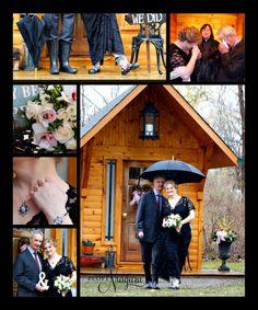 intimate elopement wedding in Niagara at the little log wedding chapel