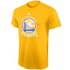 Youth Golden State Warriors adidas Gold Energy Wordmark T-Shirt