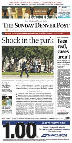 Sunday, August 8, 2013 Denver Post A1.