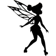 ... : Disney Fairies Iron-On Appliques-Tinkerbell Silhouette: Accessories