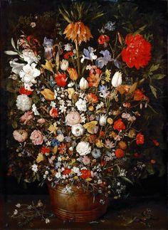 Still life with flowers. Jan Brueghel the Elder. 1607.