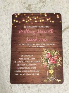 Faire part mariage rustique avec sa pochette en dentelle papier et