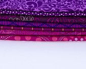 7 Red-Violet  - Fat Eighth Bundle - Quilting Fabric