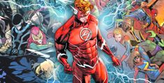 Wally West just bested both of Marvel's teams -- or, at least, legally permissible versions of them at DC Comics. Flash Comics, Dc Comics Art, Dc Speedsters, Justice League Comics, Charlton Comics, Wally West, Comic Movies, Comic Books, Kid Flash