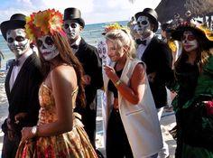 Our Lively Catrina Parade with a Sinaloa Band.  #DayofTheDead #DíadelosMuertos #XcalacocoExperience  Nuestro Desfile de Catrinas animadas con Banda Sinaloense.