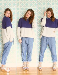 maxi jumper jeans and sweater