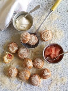 Doughnuts with Apple Purée