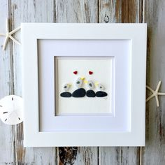 Getting to know Heidi Sayle from Dartmouth, Nova Scotia (Apricity Designs) Spotlighting Handmade Creatives from across the Country. Shadow Box Kunst, Shadow Box Art, Sea Glass Art, New Crafts, Pebble Art, Craft Work, Stone Art, Rock Art, Creative Inspiration