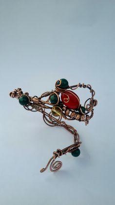 Copper wire arm braceletCopper wire arm bracelet by Tangledworld