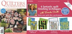 Four Fantastic Quilt Finishing Techniques DVD in QC#37