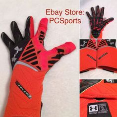 Mens Under Armour UA Nitro Warp Highlight Football Gloves 1248298 Size  Large. Guantes De ... 6c46024c53a94