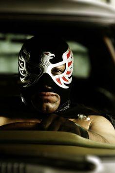 from Lucha Libre Luchador Mask, Mexican Wrestler, Superhero Ideas, Mexico Art, Vintage Art, Art Reference, Ranger, Wwe, Polaroid