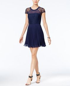 BCBGeneration Illusion Lace A-Line Dress