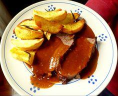 Brasato al barolo con patate al forno