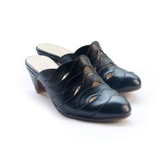 New Black Alice clogs  Handmade Leather shoes by LieblingShoes, ₪785.00