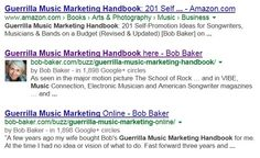 Google Authorship for Musicians - How Google Can Help You With Music Promotion - Bob Baker