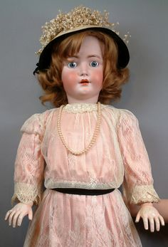 "The Biggest Ever 41"" Heinrich Handwerck/Simon & Halbig Antique Doll from kathylibratysantiques on Ruby Lane"