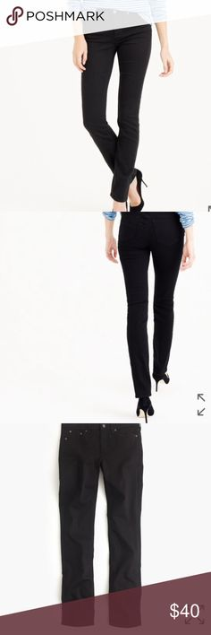 J. Crew black matchstick straight leg jeans sz 27 J. Crew black matchstick straight leg jeans. Size 27 regular. Nice condition only worn one time. Retail for $115 and sold out on j. Crew website. (5) J. Crew Jeans Straight Leg