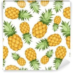 Seamless background with pineapples. Vector seamless background w ,