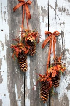 autumn leaves and fall themed decorations for home interiors and outdoor rooms