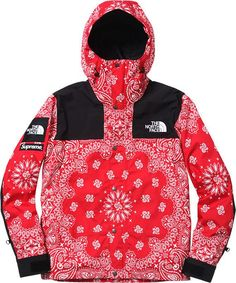 Supreme X North Face Red Bandana Jacket Flawless quality and warm for cold days. Made from cotton, polyester and nylon with a 100% cotton lining.