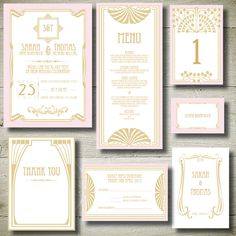 GREAT GATSBY- personalised invitation printable party package