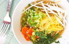 10 Veggies You Never Knew You Could Turn into Soup  http://www.prevention.com/eatclean/veggie-soup-recipes?_ga=1.115672002.598539174.1491757650 Vegan Spaghetti Squash, Paleo Meal Prep, Paleo Meals, Vegan Dinners, Pho Recipe, Vegetable Soup Recipes, Delicious Vegan Recipes, Vietnamese Noodle, Soups And Stews