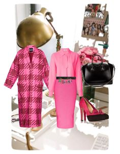 Pink Friday. by cupcakebandit on Polyvore featuring polyvore, fashion, style, Issa, House of Holland, Cushnie Et Ochs, Charlotte Olympia, Givenchy and Moschino
