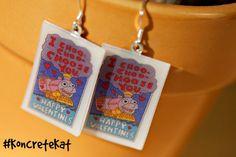 Simpsons Valentine Earrings by KoncreteKat on Etsy