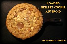 Loaded Skillet Cookie Asteroid Recipe from The Lunchbox Season