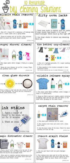 10 AMAZING Cleaning Solution DIY's! CLEANING HACKS