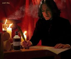 """2001 -- Alan Rickman as Professor Severus Snape; this photo is from """"Harry Potter and the Sorcerer's Stone,"""" the of 8 movies. """"And a point will be taken from Gryffindor house for your cheek, Potter. Draco, Professor Severus Snape, Alan Rickman Severus Snape, Snape Harry Potter, Harry Potter Severus Snape, Severus Rogue, Harry Potter Fan Art, Harry Potter Universal, Harry Potter Characters"""