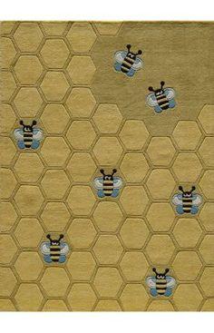 Momeni Lil Mo Whimsy LMJ15 Honeycomb Gold Rug at Rugs USA